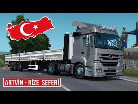 ETS2 / Mercedes-Benz Axor 1840 / Artvin - Rize Seferi / Logitech DFGT
