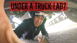 STUCK UNDER A LORRY!! SHOULD OF GONE SUNDAY SCHOOL LAD! FPV TRIALS!