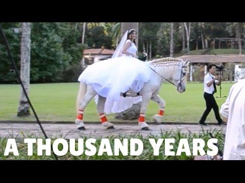 Entrada Da Noiva à Cavalo Entrada Linda E Original A Thousand Years