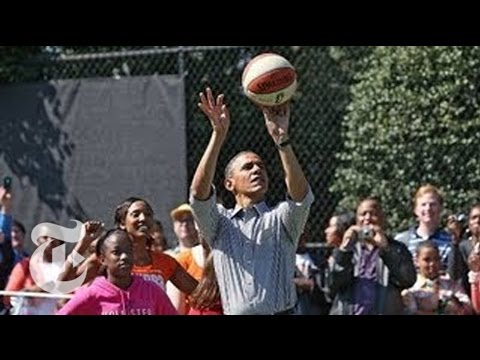 Obama Basketball Highlights: President Shoots Hoops at Easter Egg Roll | The New York Times