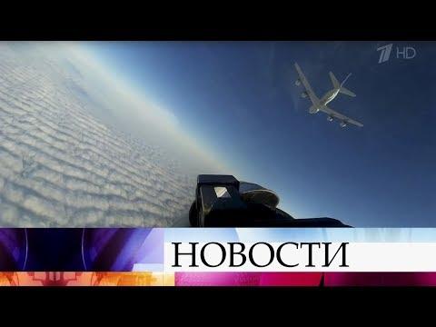 Смотреть Российские военные летчики охраняют воздушные границы страны. онлайн