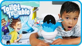 TOYS R US Toilet Trouble Game Funny Kids and Mom Challenge With TigerBox HD