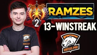 Is he the World's Best Dota 2 Carry? RAMZES666 CRAZY 13-Winning Streak to reach TOP 1 MMR - Dota 2