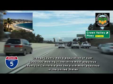Orange County Freeway tour, Greater Los Angeles, California