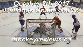 October 5th 2017 Bulldogs Hockey Goalie GoPro, 1st Time in Bauer Vapor 1X Odin Set