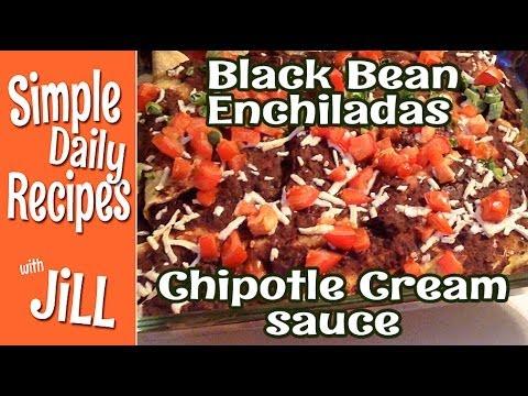 Black Bean Enchiladas w Chipotle Cream Sauce