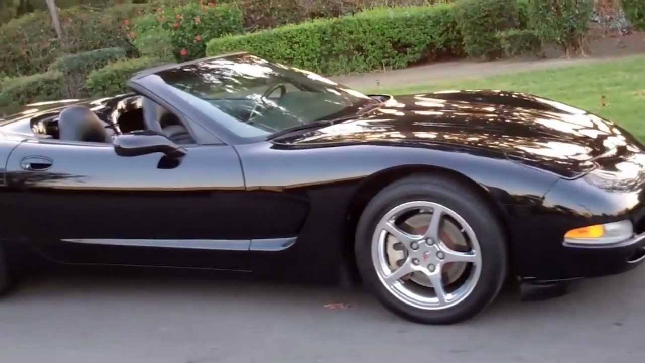 sold 1998 chevrolet corvette convertible black - youtube