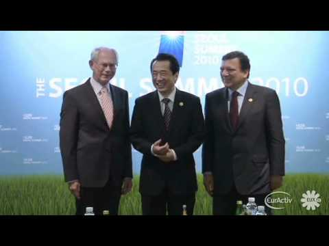 EU, Japan meet at G20 summit in Seoul (raw video)