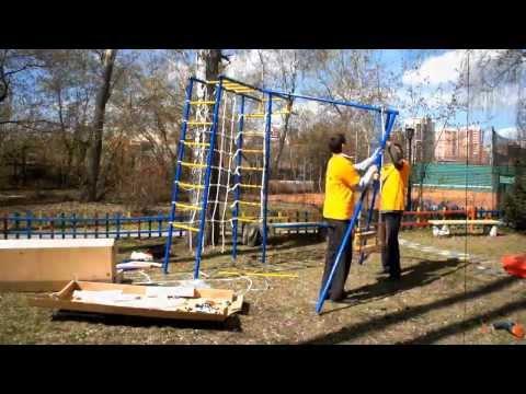 Сборка детского спортивного комплекса для дачи