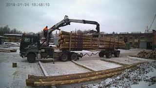 Praca las transport Leśny Holztransport