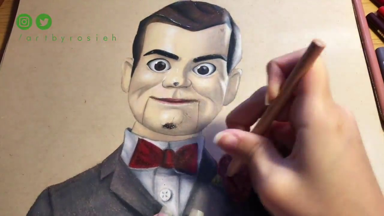 Drawing Slappy From Goosebumps