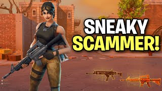 Exposing a Very Sneaky Scammer! (Scammer Get Scammed) Fortnite Save The World