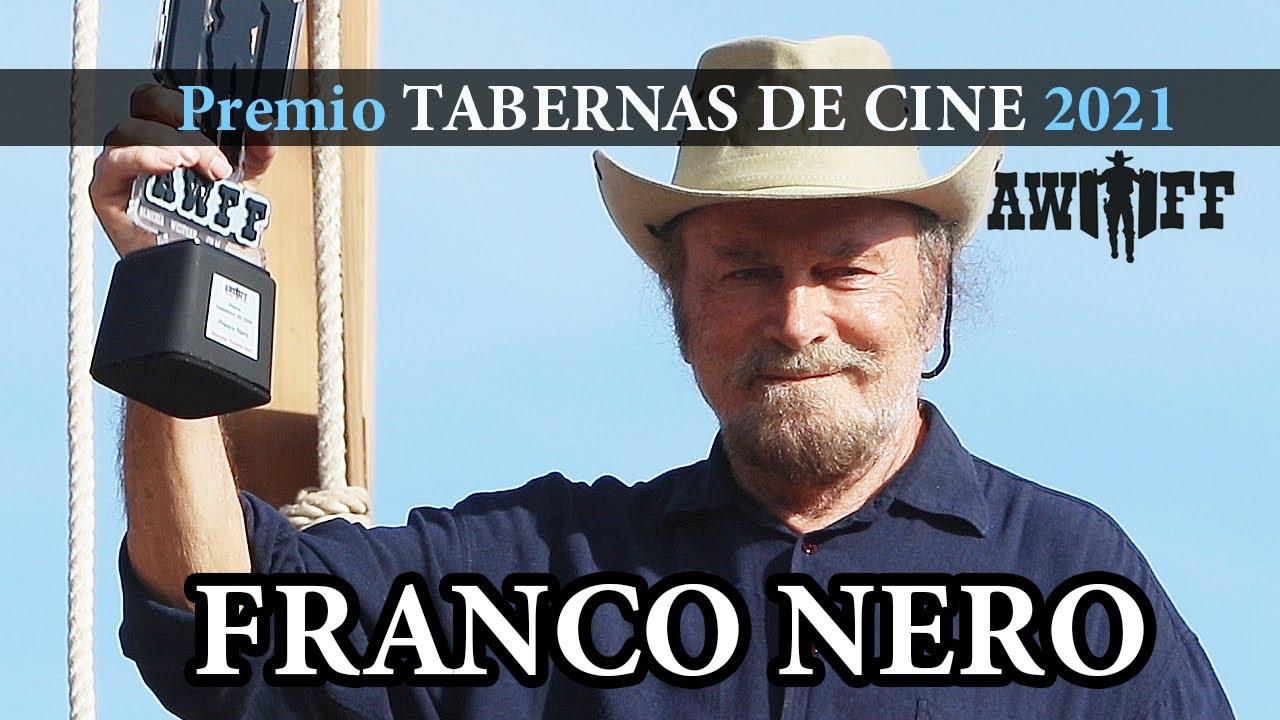 """FRANCO NERO Premio """"Tabernas de Cine 2021"""" AWFF 2021 (Presentador: Luis Larrodera)"""