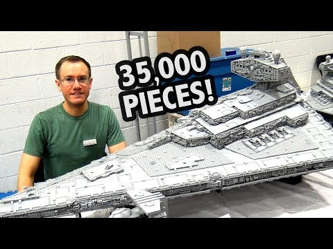 GIANT LEGO Star Destroyer with Full Interior! Custom Star Wars