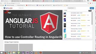 AngularJS Video Tutorials -  How to  pass parameters with routing