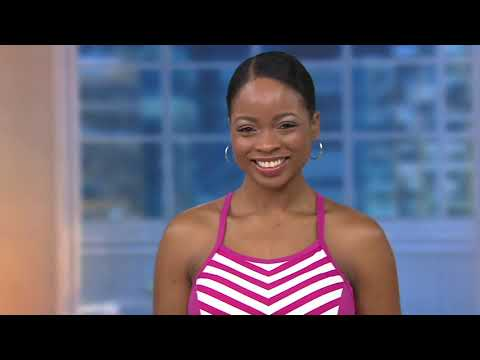 f02ec5a201c Beach Stripe Tankini Swimsuit with Skirt on QVC