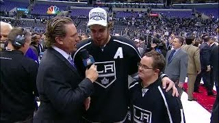 Anze Kopitar and Chris Sutter Postgame Interview