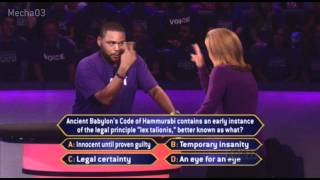 """""""I Did NOT Wink!"""" - Who Wants to be a Millionaire [Season 10]"""