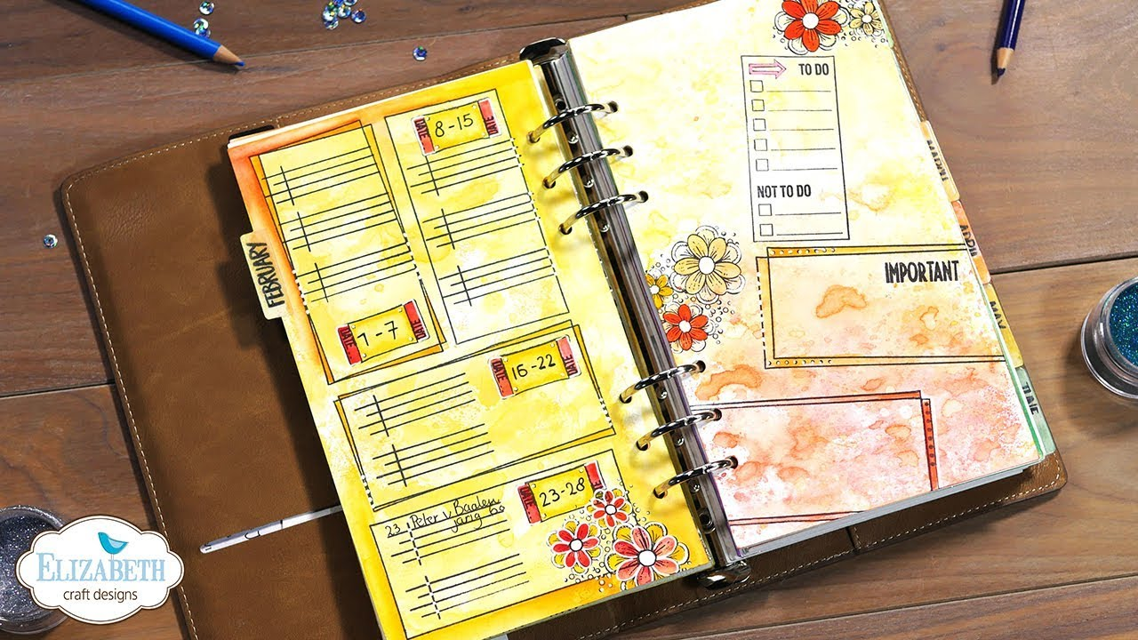 Diy Planner Pages 2 Technique Friday With Els Youtube