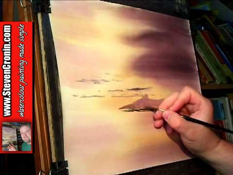 Watercolour Landscape Painting Tips feat Uphill, Somerset #2