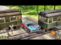 Subway Train railway crossing Crashes BeamNg Drive #4