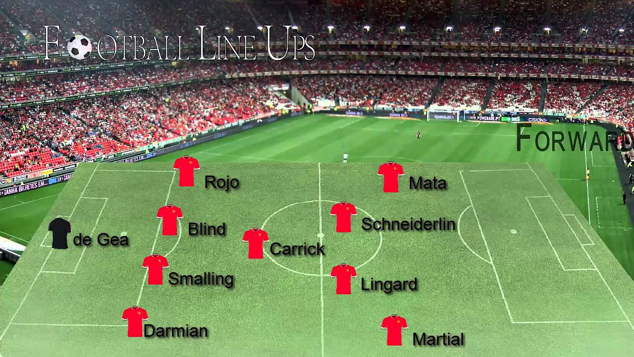 Manchester United vs Everton (Man United Starting Lineup ...