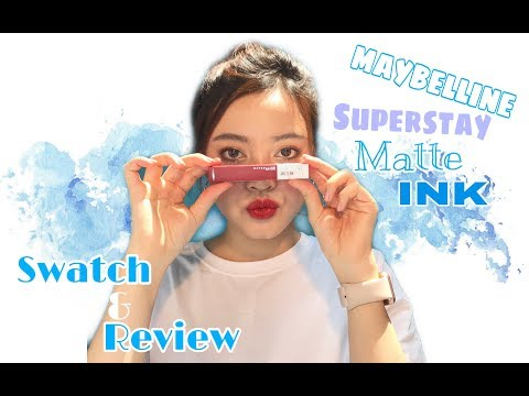 MAYBELLINE SUPERSTAY MATTE INK REVIEW & SWATCH l Đăng Vi Nguyễn