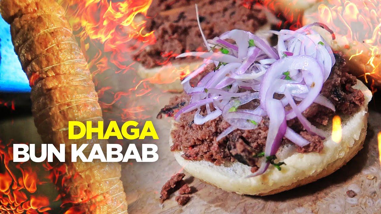 Dhaga Bun Kabab of Karachi Wala | Fry & Bihari Boti Kabab | Special BBQ | Pakistan Street Food