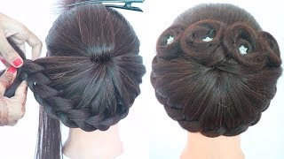 Beautiful bun hairstyle with trick   hairstyles for girls   hair style girl