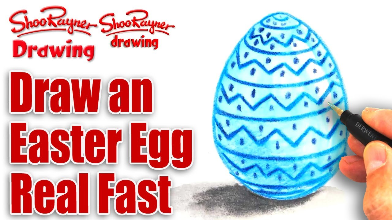 How To Draw An Easter Egg Quick And Easy!