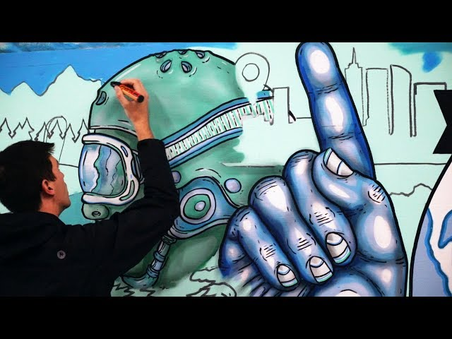 Art in Action: Mural Artist Maxfield Bala at Woodward Copper