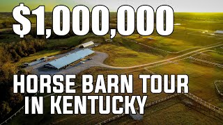 98 acres and a Million Dollar Horse Barn tour Kentucky Horse property