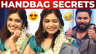 Actress Dharsha Gupta Handbag Secrets Revealed By VJ Ashiq | What's Inside The Handbag? - 12-08-2020 Tamil Cinema News