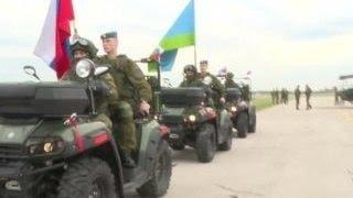 Славянское братство   десантники Сербии, Белоруссии и России начали совместные учения