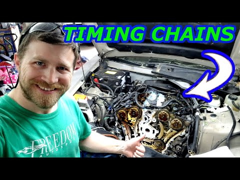 HOW TO REPLACE TIMING CHAINS ON CADILLAC CTS 3.6L (DAY 1)