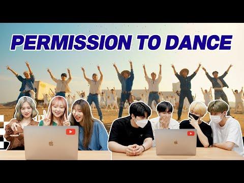방탄소년단 'Permission to Dance' 뮤비를 보는 남녀 댄서의 반응 차이 | BTS 'Permission to Dance' MV REACTION