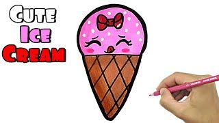 ice cream draw easy way