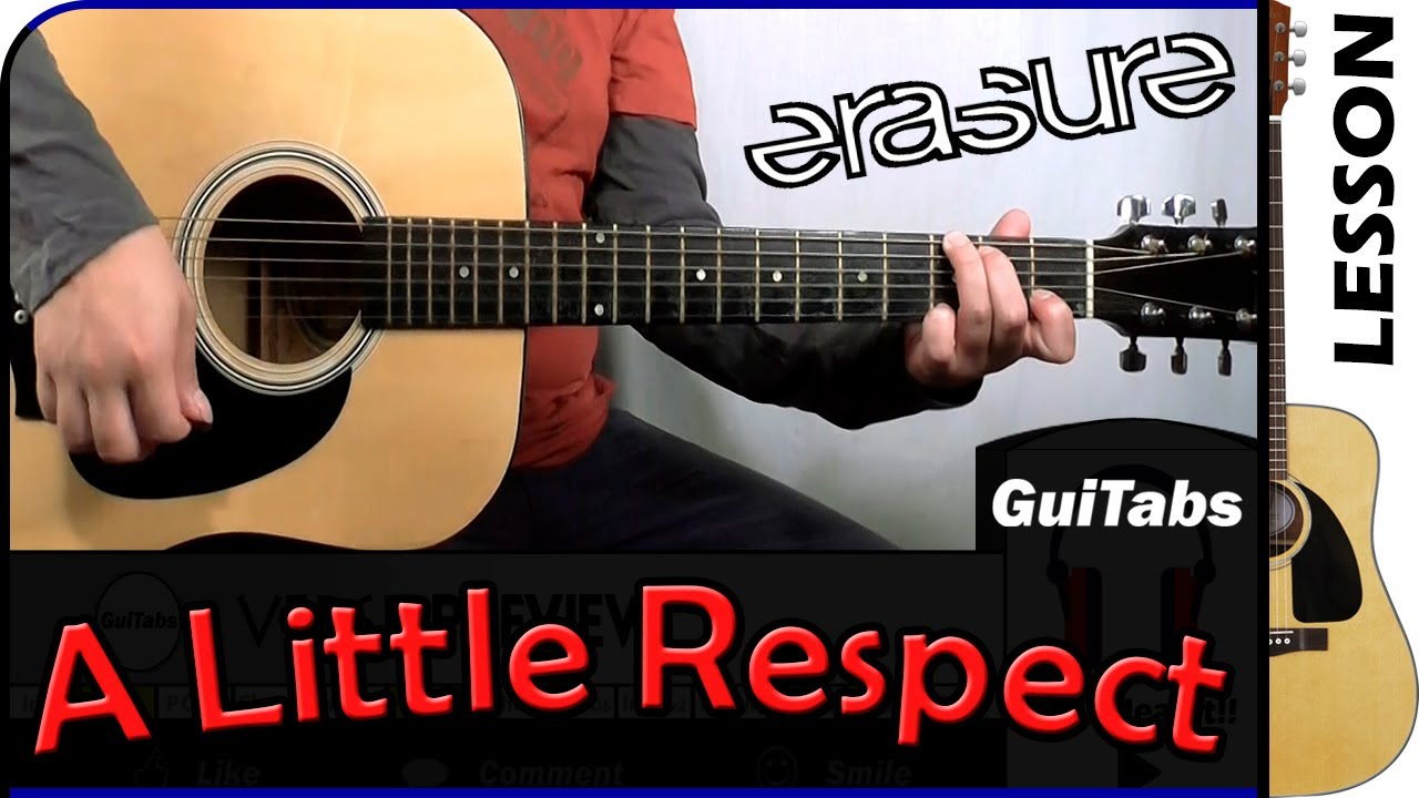 How to play A Little Respect - Erasure / GuiTabs Guitar Lesson ????