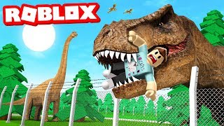 BUILDING A DINOSAUR ZOO IN ROBLOX