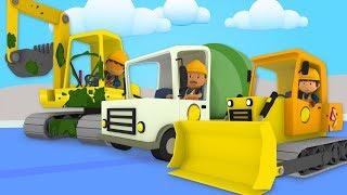 Construction Vehicles At Carl's Car Wash   Cartoon For Kids