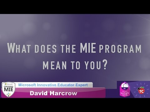 David Harcrow: What makes the MIE program so special?