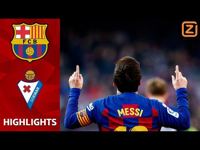 LIONEL MESSI GAAT LOS! 🔥🔥🔥 | Barcelona vs Eibar | La Liga 2019/20 | Samenvatting