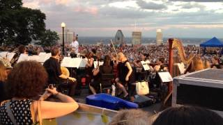 Metropolitan Orchestra at the belvedere of Mont Royal