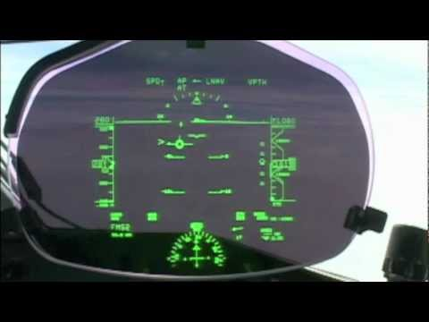Landing Seen Through Hud Head Up Display Youtube