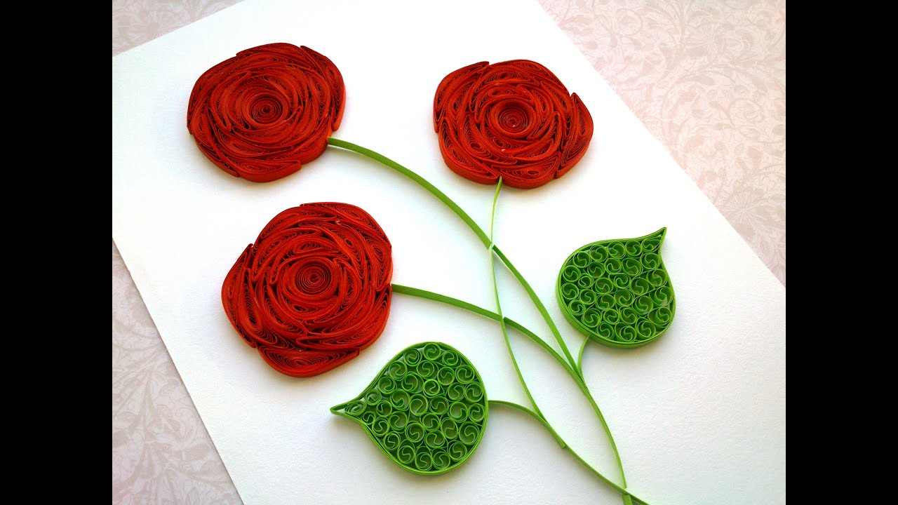 Quilling Rose Tutorial: How To Make A Rose With A Paper Stripe Quilling  Rose Making  Youtube