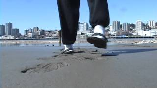 sandals and white socks in the mud wmv