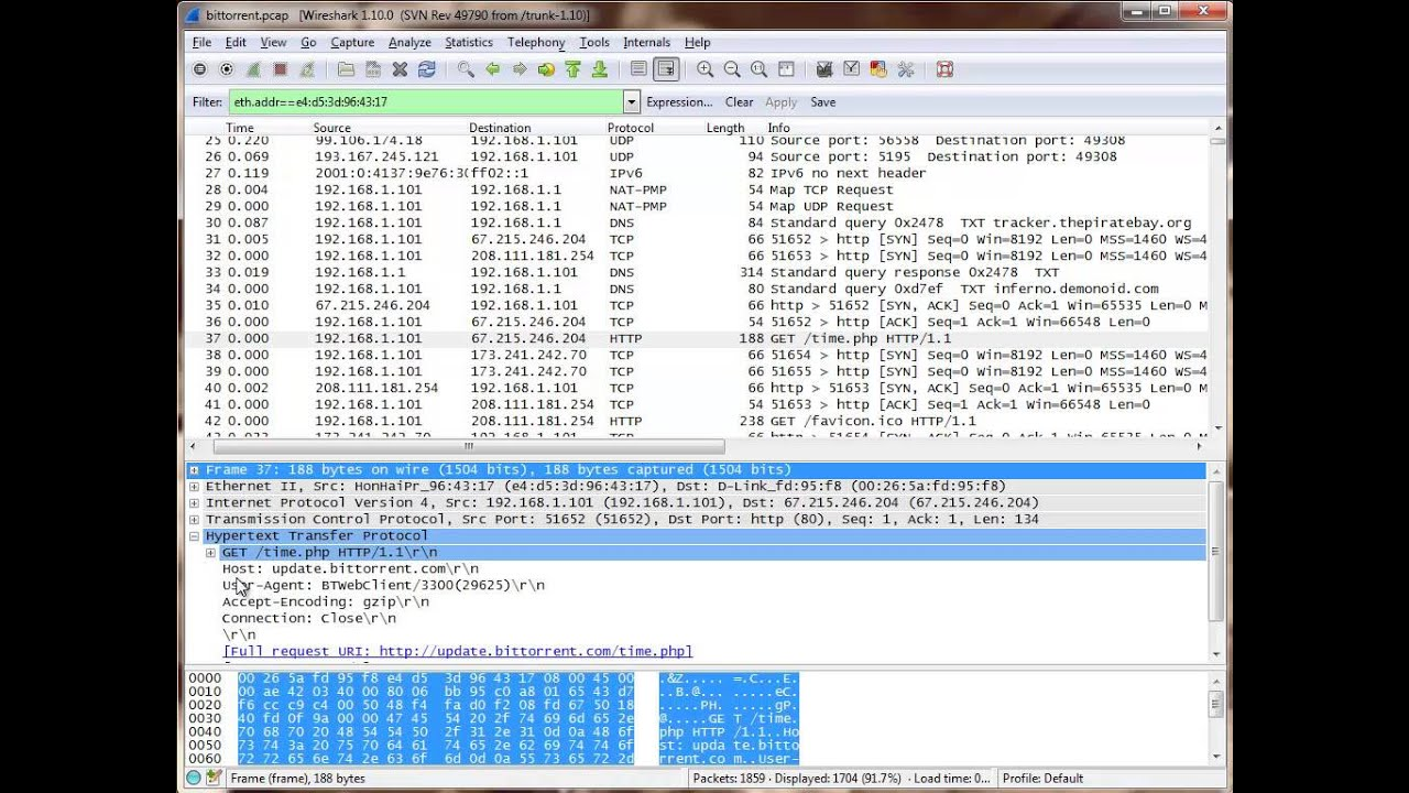 Showing You How To Figure out Bittorrent Behavior With Wireshark