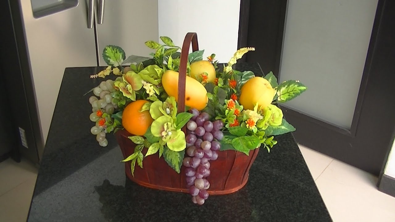 Arreglo De Frutas Artificiales Para Tu Cocina Diy