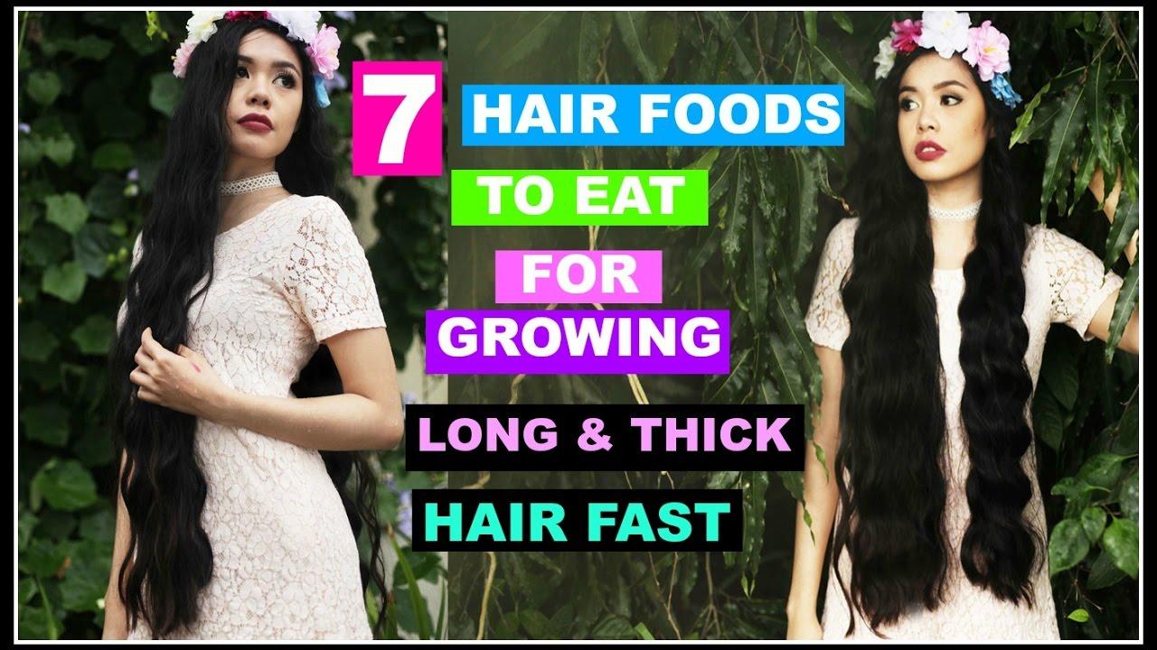 7 hair foods eat growing