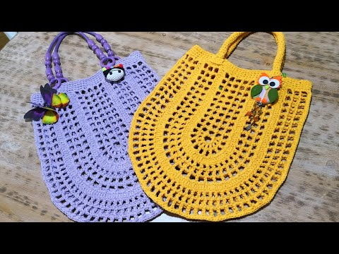 4b193807103f5 Oval File Çanta Yapımı Crochet Market Bag Tutorial (Eng. Subt.) - YouTube
